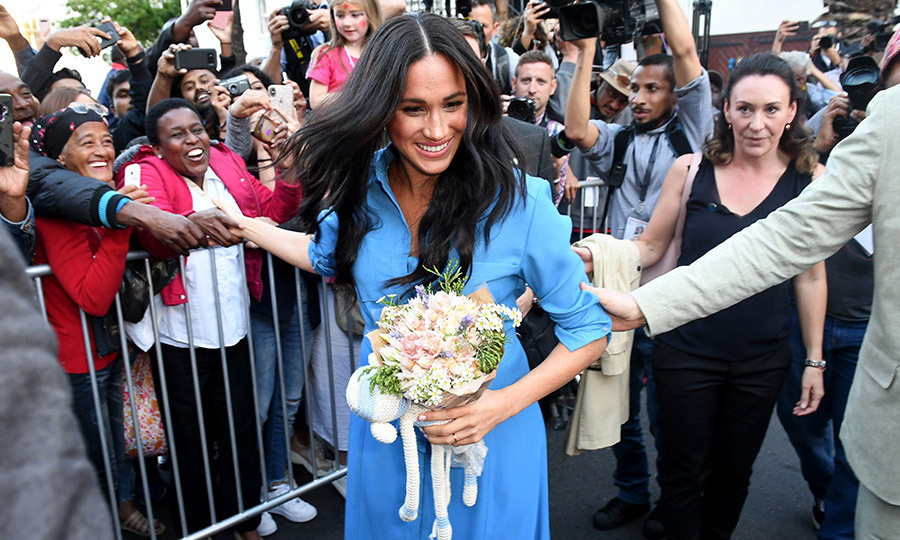 Meghan seemed thrilled with the reception!
