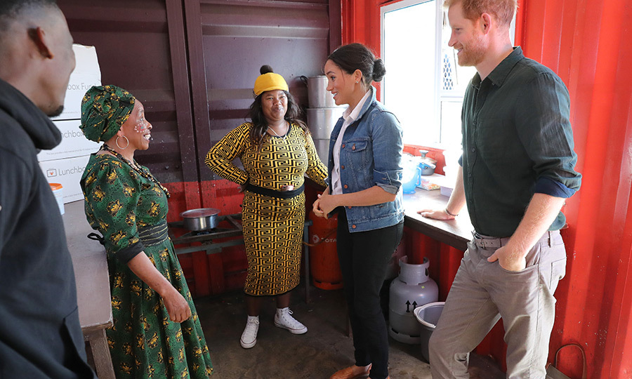 While they were there, Meghan and Harry popped in to see The Lunchbox Fund, which is run out of the Waves for Change kitchen. It provides 30,000 lunches every day to Waves for Change participants and schools throughout South Africa. It was also one of four charities that benefitted from donations royals fans made following Archie's birth.
