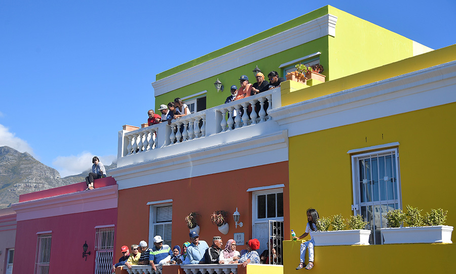 Cape Town's Bo Kaap district is incredibly colourful! 