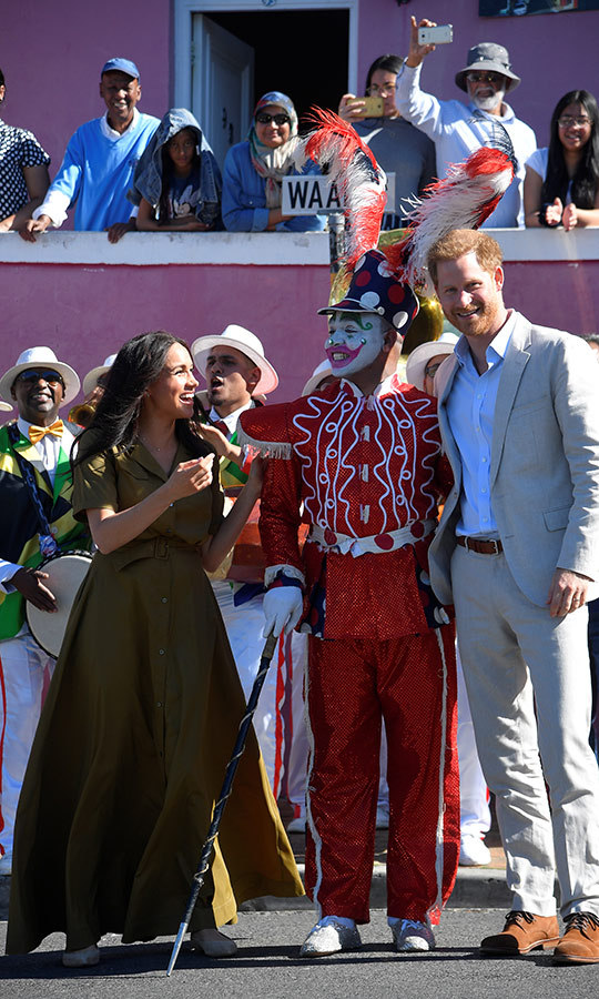 The duke and duchess really loved the clown!