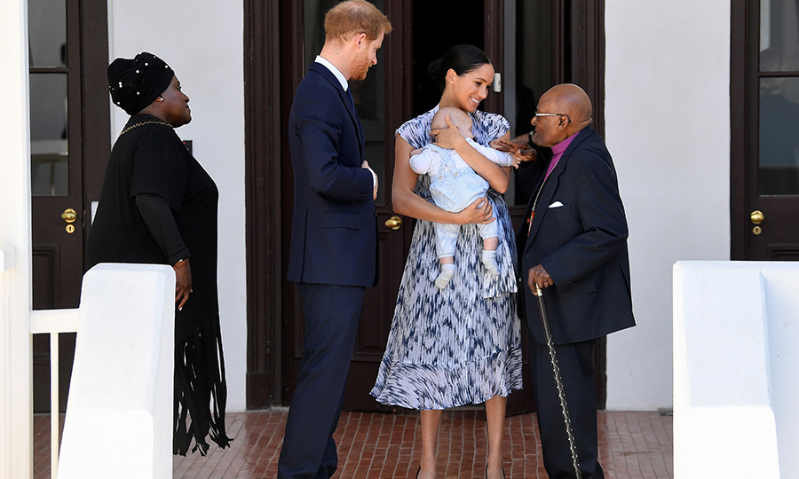 "<Strong><a href=""/tags/0/archie-harrison"">Archie Harrison</a></strong> made his debut at a royal event on Sept. 25! Proud parents <strong><a href=""/tags/0/meghan-markle"">Duchess Meghan</a></strong> and <Strong><a href=""/tags/0/prince-harry"">Prince Harry</a></strong> visited anti-apartheid hero Archbishop <strong><a href=""/tags/0/desmond-tutu"">Desmond Tutu</a></strong> and his daughter <strong>Thandeka</strong> at Desmond's foundation in Cape Town. The Sussex family are currently in South Africa as part of a 10-day tour of the country, along with Botswana, Angola and Malawi. 