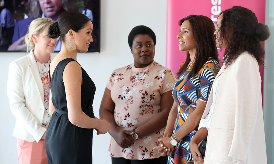 Following their meeting with Desmond, Meghan stepped out solo to Cape Town's Woodstock Exchange, where she attended Work in Progress, an event focusing on women entrepreneurs in the tech industry. Woodstock Exchange is a UK-South Africa tech hub that helps women with skills development and gives them access to markets by connecting them with skills and support. 