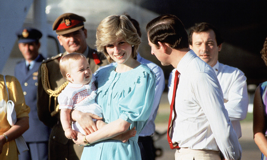"In March 1983, <Strong><a href=""/tags/0/prince-william"">Prince William</a></strong> made his first royal tour appearance when he travelled to Australia and New Zealand with <Strong><a href=""/tags/0/princess-diana"">Princess Diana</a></strong> and <strong><a href=""/tags/0/prince-charles"">Prince Charles</a></strong>. The adorable little prince, who was just nine months old at the time, wowed in a red-and-white outfit as his parents got off the plane in Alice Springs. Diana was beaming while she held her son, who looked a tad perturbed - perhaps it was the time difference! 
