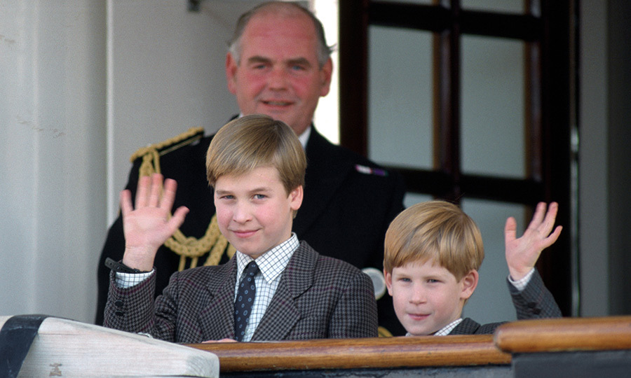 William and Harry arrived a day ahead of their parents on that 1991 trip, getting off the Royal Yacht Britannia and waving to the well-wishers who were waiting to meet them.