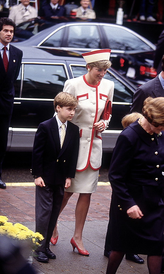 As part of their 1991 trip, Diana took Prince William and Prince Harry to Sunday church service at St. James's Cathedral in Toronto. City residents packed the block to try and get a glimpse of the young royals and the People's Princess.