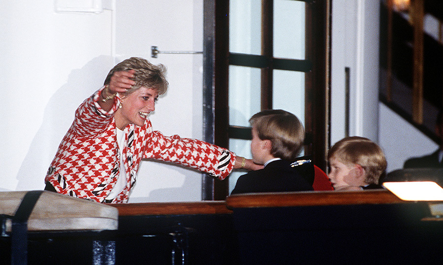 Diana was so thrilled to see her boys the next day!