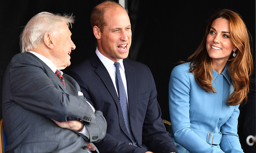Kate and William enjoyed some time with David. 