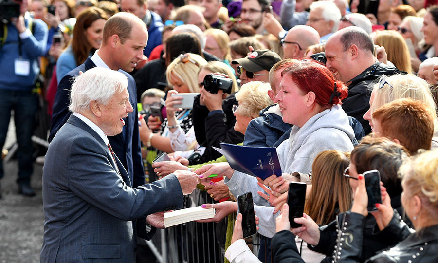 David did the same! He is considered a national treasure in the UK, though he doesn't like the term, but given the incredible career he's had and the amount he's contributed to science and documenting the Earth's natural history, it's no surprise people came out in droves to see him!
