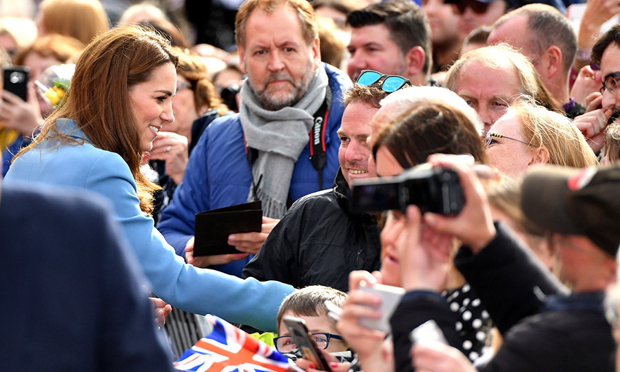 The duchess was very keen to say hello to the wellwishers and royal fans who had come out for the event.