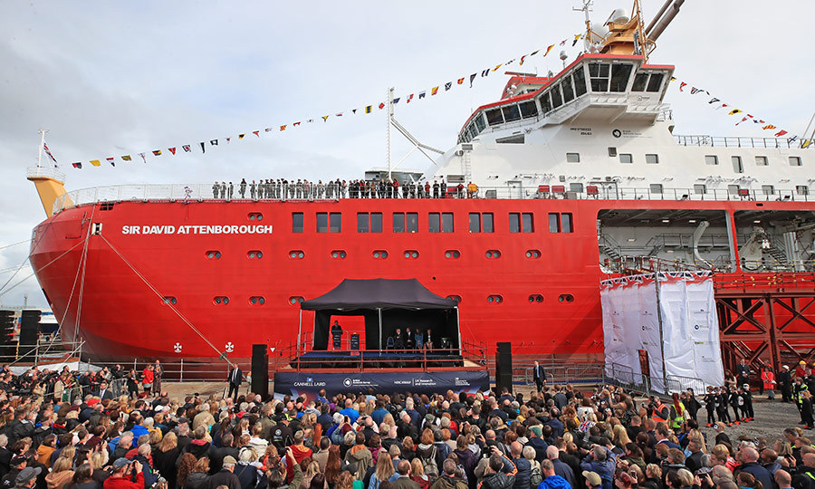There was a massive crowd out to see the naming ceremony for the <i>RRS Sir David Attenborough</i>, which will be operated by the British Antarctic Survey and will conduct important scientific research about the Earth's poles.