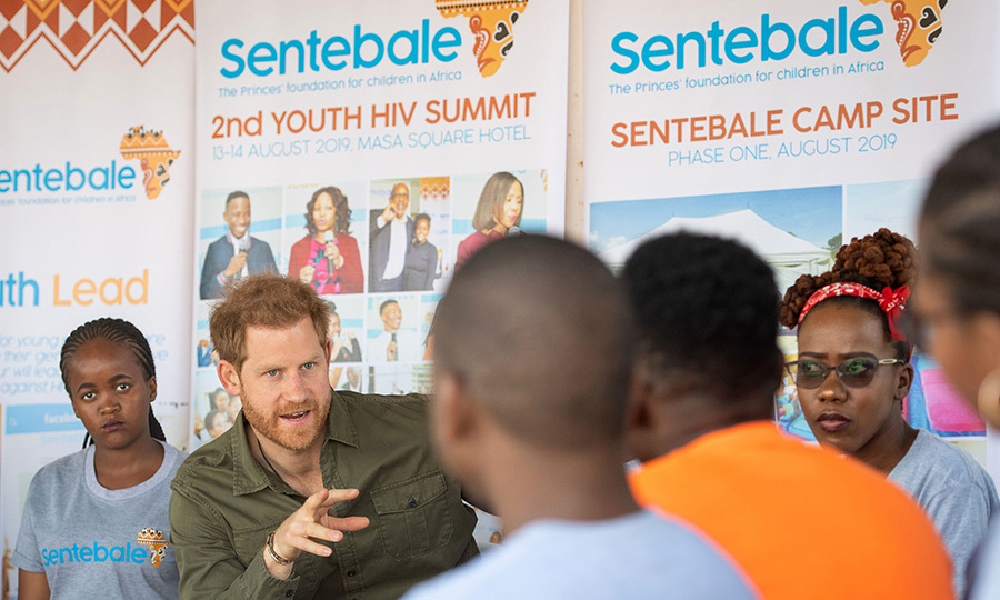 Harry joined in a confidence-building exercise while there. Sentebale works with vulnerable children and youth who are living with HIV in Botswana and Lesotho, where it was founded. 
