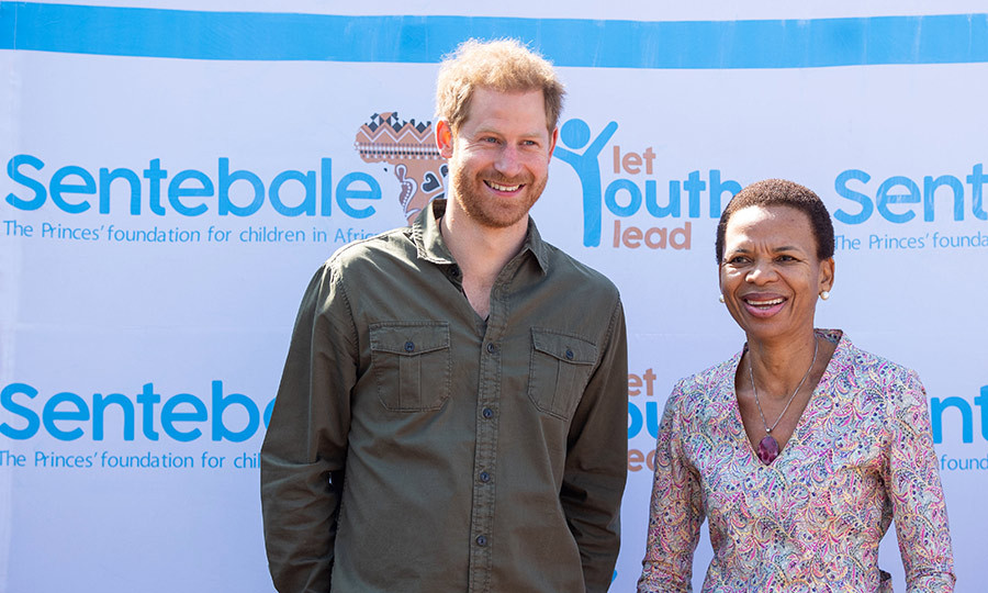 While there, Harry also met with the head of programs for Sentebale Botswana, <strong>Ketlogetswe Montshiwa</strong>. They looked very happy to see each other.