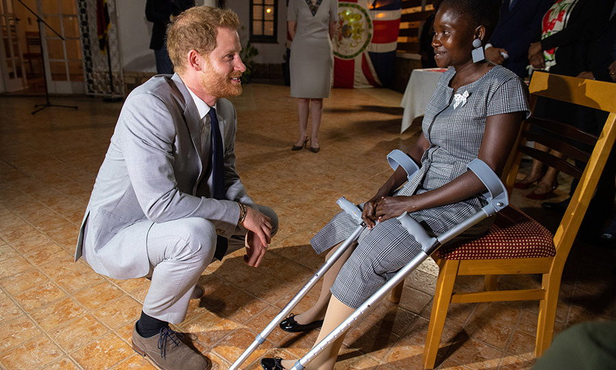 That evening, Harry met <strong>Sandra Tigica</strong>, a landmine survivor, at a reception at the British High Commissioner's residence in Luanda. You might recognize her... 