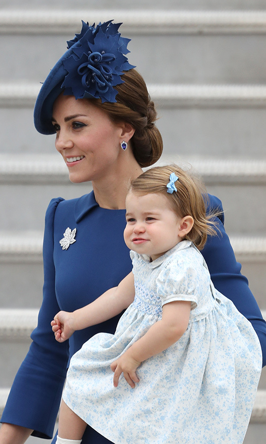 "What a sweetheart! <strong><a href=""/tags/0/princess-charlotte"">Princess Charlotte</a></strong> made her royal tour debut in 2016 when she joined her parents and big brother George for their visit to Canada!