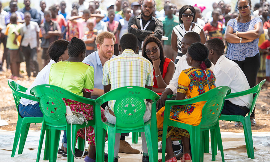 Harry, meanwhile, stepped out to the Mauwa Health Centre in Blantyre, Malawi, and was keen to hear about some of the issues affecting the community there. He spent lots of time talking to those who use the centre.