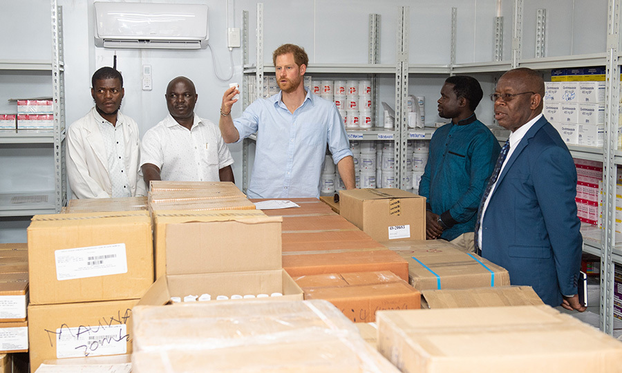 He also saw inside a pharmacy-in-a-box installation, used for the temperature controlled storage of medical supplies, vital in a region with scorching temperatures and urgent health care needs.