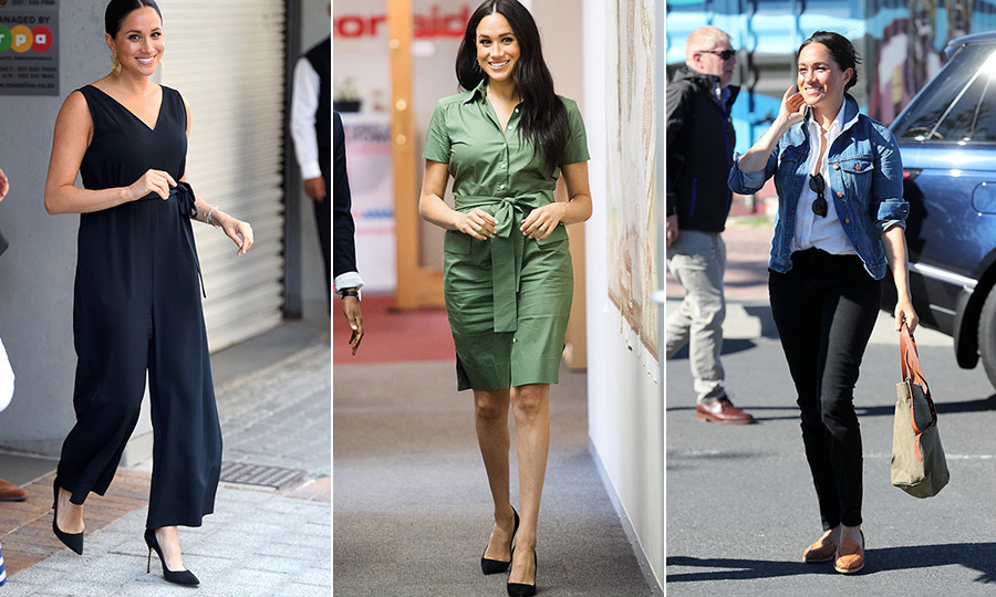"<strong><a href=""/tags/0/meghan-markle"">Duchess Meghan</a></strong> has been stepping out in some incredible style during her time in South Africa! From the moment she arrived at her first event, the 38-year-old put a huge focus on affordable, relatable style. Her engagements in South Africa have seen her re-wear several of her most beloved items from her wardrobe - two of which we've seen on a previous royal tour! 