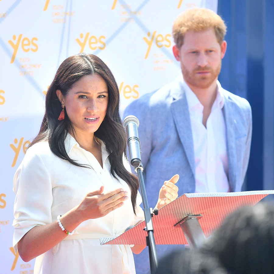 Both of the Sussexes made some remarks at the event, in which they both said they were very touched by the welcomes they'd received in South Africa.
