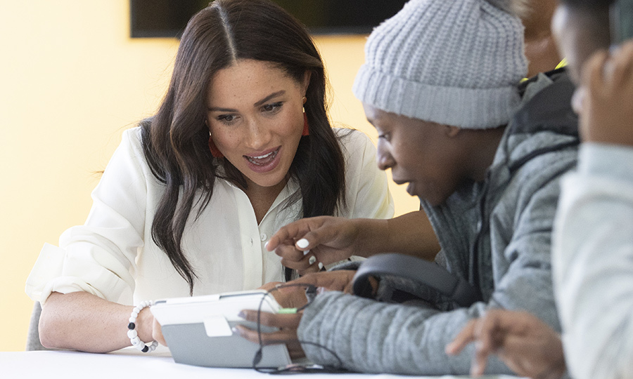Meghan also took some time to chat with some youths about programs they were using to create things at the site...
