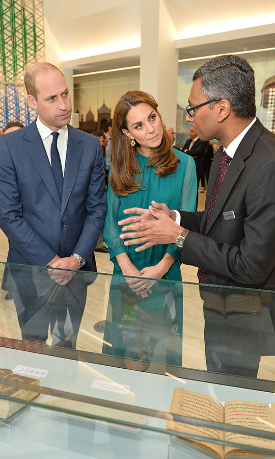 William and Kate, always curious about other cultures, were shown some important Islamic books while visiting the centre.