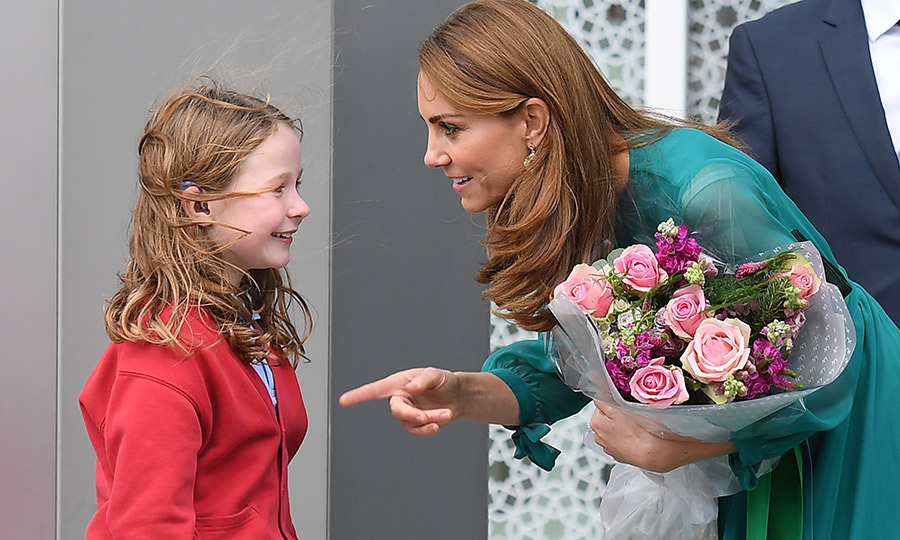 Kate had quite a lot to say to this little girl. The two really hit it off!