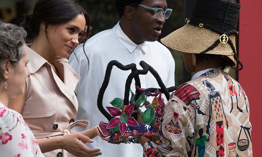 Meghan received some beautiful gifts at the reception! 
