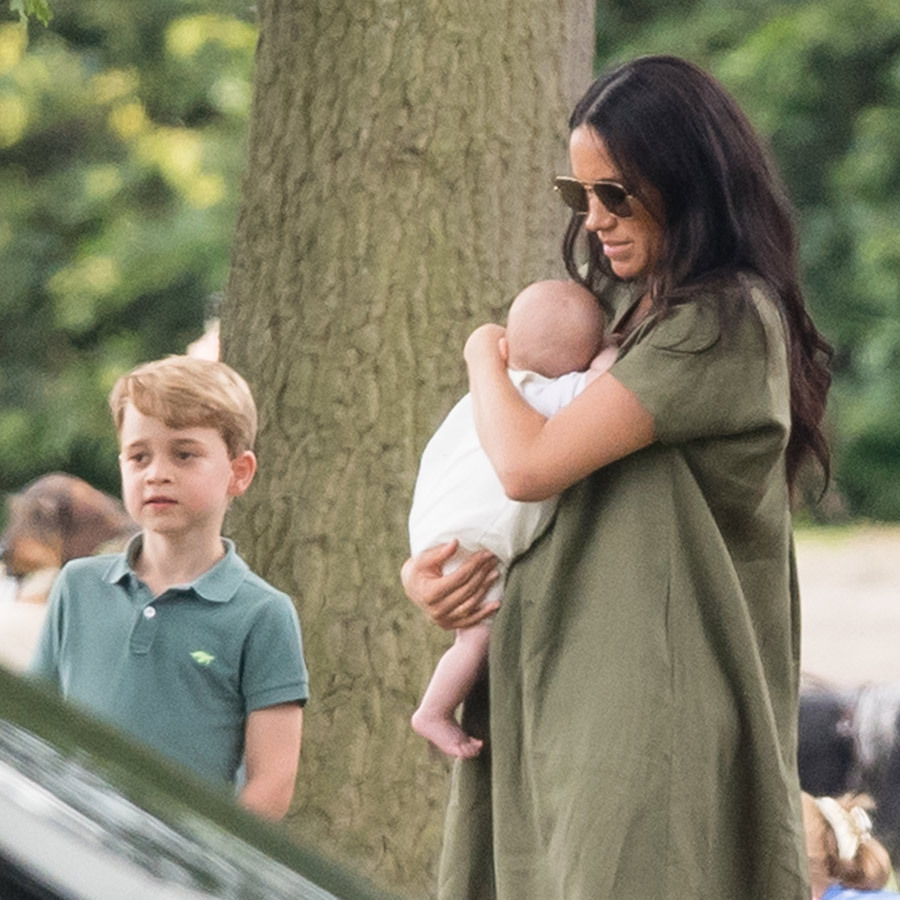 "We last saw Meghan in this dress on July 10, when she brought <strong><a href=""/tags/0/archie-harrison"">Archie</a></strong> to a charity polo match Harry was playing in with <strong><a href=""/tags/0/prince-william"">Prince William</a></strong>. Archie slept soundly in her arms the whole time, while <Strong><a href=""/tags/0/prince-george"">Prince George</a></strong> stood next to her and his cousin and watched the game.