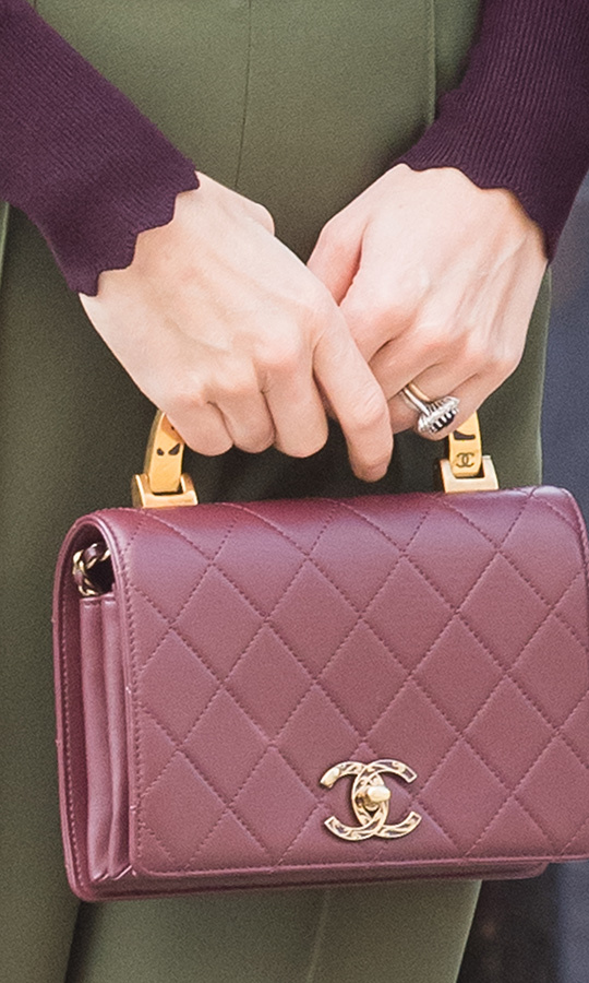 Here's a closer look at her Chanel handbag.