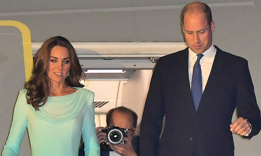Kate Middleton and Prince William have arrived in Pakistan to begin their royal tour