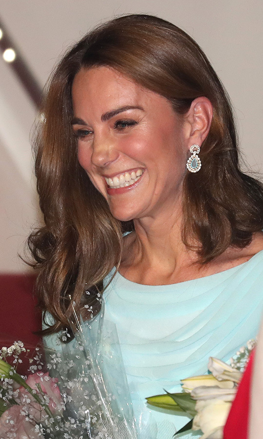 Kate was thrilled to see them! Look at this huge smile!