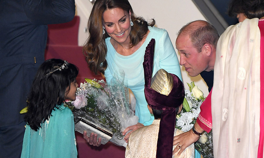 William was just as keen to say hello to the youngsters, getting right down to nearly eye level with them to thank them for their warm welcome.
