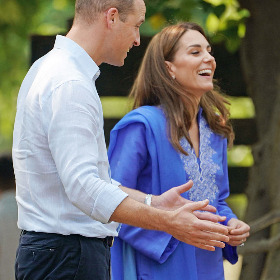 William must have said something very funny! We love how the couple are still able to make each other laugh!