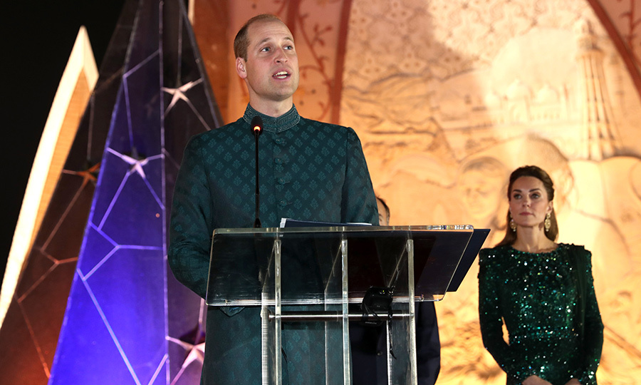 William also made a speech at the event, in which he spoke about the importance of Britain and Pakistan's historic ties, and fighting terrorism.