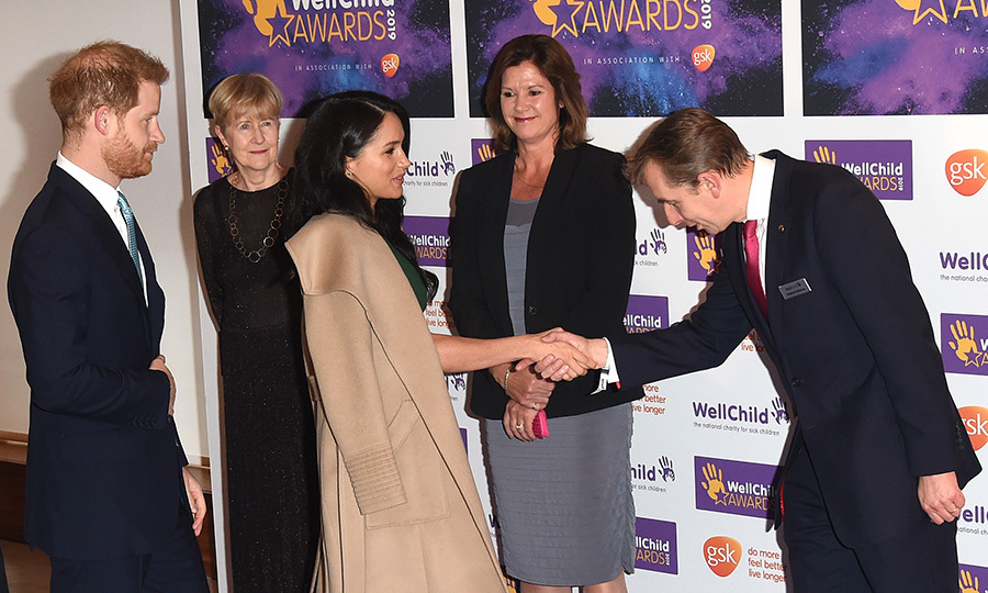 Before heading in to the event, the couple were greeted by WellChild organizers and staff, who were very pleased to see them. 