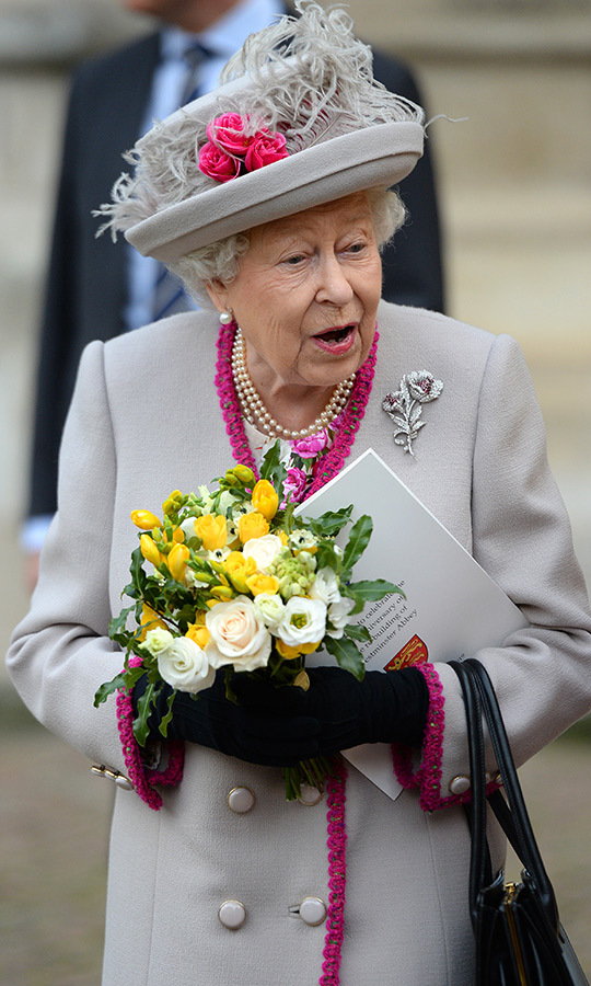 The Queen smiled and had some words for well-wishers before heading back to her car.
