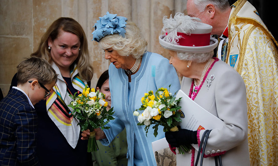 Camilla also received one and had some kind words for the young man who presented it to her.