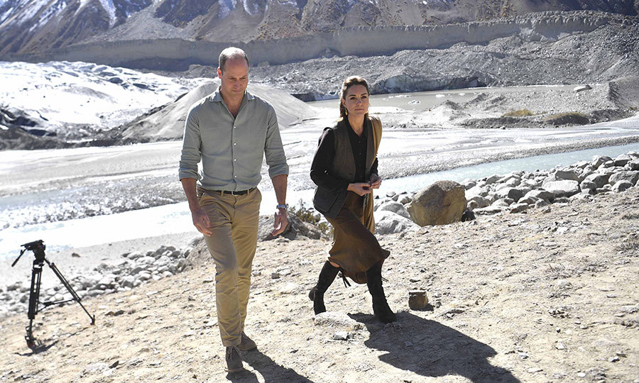From there, the Duke and Duchess of Cambridge visited Chiatibo Glacier in the Hindu Kush mountains. 