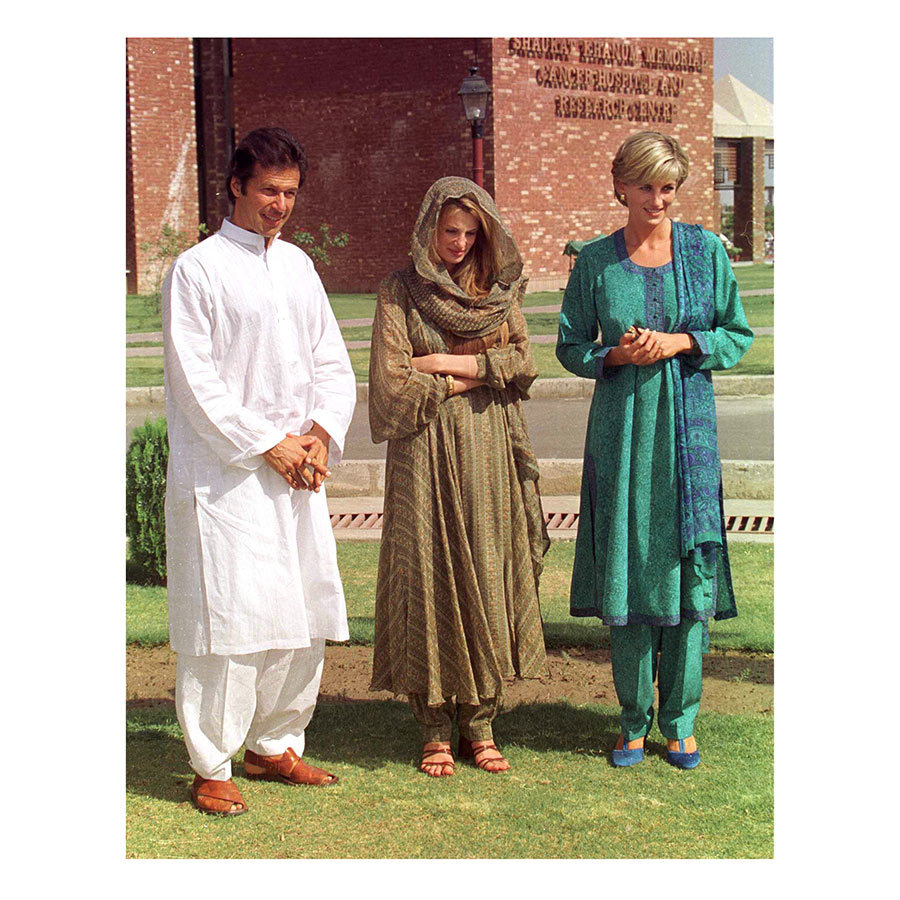 Diana's visit was specifically to help fundraise for the hospital Imran had opened, which she visited again in Lahore.