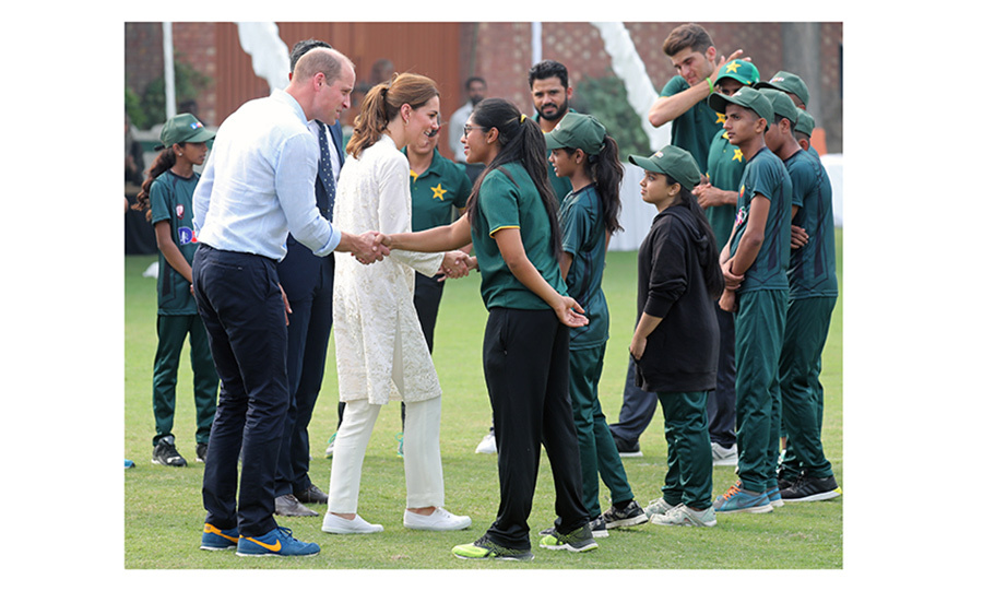 From there, they headed to the National Cricket Academy, which runs a special program for children and youth. 