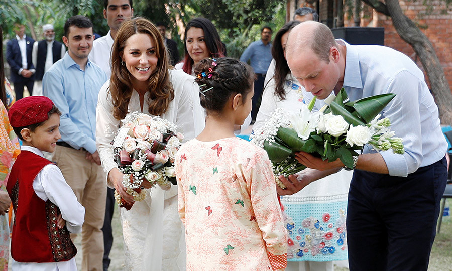They received some lovely bouquets from two adorable children while they were there.