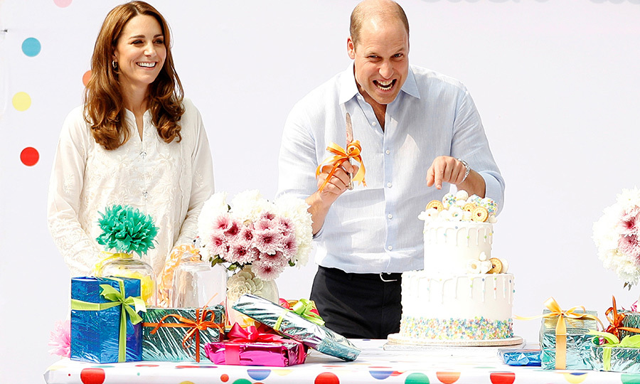 They also got some presents and a cake, which William seems to have loved! 