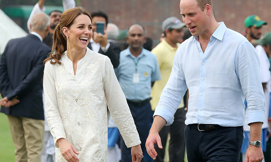 The couple are no strangers to gently ribbing each other during sporting events, having done so during their sailing regatta last summer (Kate finished last!). They appeared to be doing so again following their brief inning. 