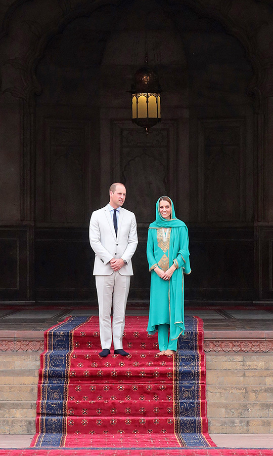 "They looked very pleased to be visiting the masjid, which was built by Mughal Emperor Aurangzeb in 1671 and has been visited by royals including <strong><a href=""/tags/0/prince-charles"">Prince Charles</a></strong> and <Strong><a href=""/tags/0/camilla-parker-bowles"">Duchess Camilla</a></strong> and <strong><a href=""/tags/0/queen-elizabeth-ii"">the Queen</a></strong>.