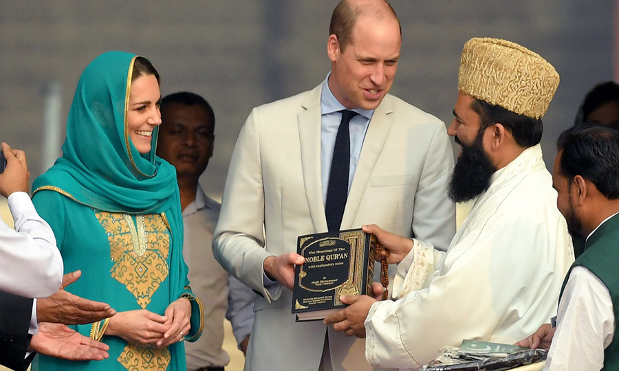 To thank them for their visit, the imam presented Kate and William with a copy of the Qur'an! 