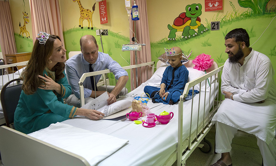 She also donned a toy tiara for a special visit with <Strong>Wafia Remain</strong>, 7, who is also receiving treatment there. 