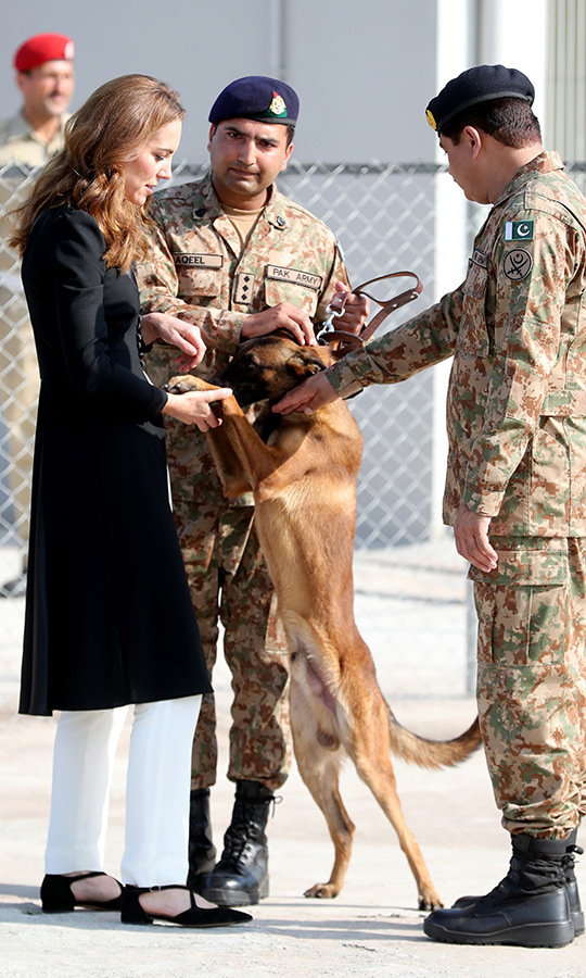 Kate was also greeted by a Belgian Malinois dog named <Strong>Tutu</strong>, who was so happy to see her that he got up on his hind legs. 