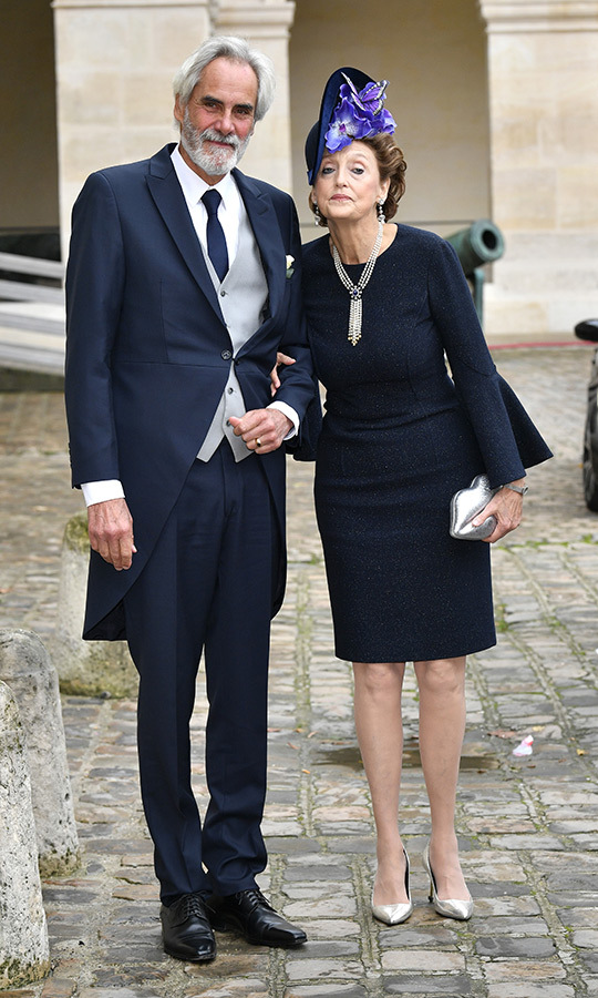 <STRONG>Prince Charles Napoleon</strong>, Jean-Christophe's father, and <strong>Countess Marie-Beatrice von Arco-Zinneberg</strong>, Olympia's mother, posed outside the venue.
