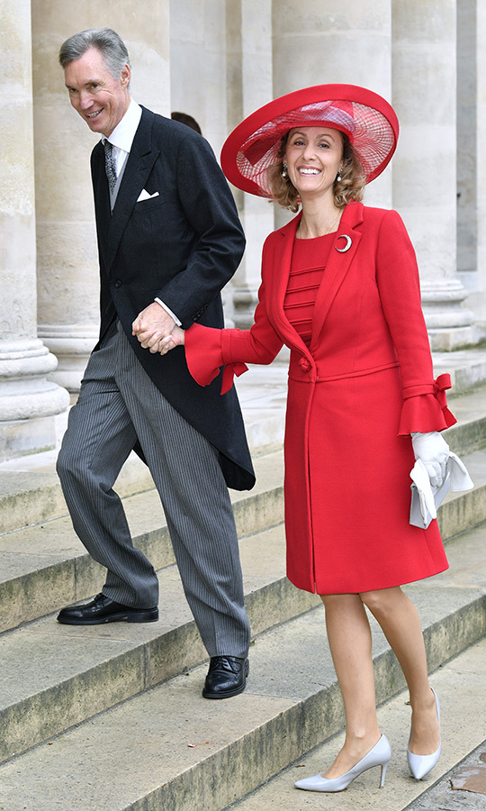 <strong>Prince Guillaume of Luxembourg</strong> and <strong>Princess Sibilla of Luxembourg</strong> were also in attendance, with Sibilla looking particularly lovely in red and grey.