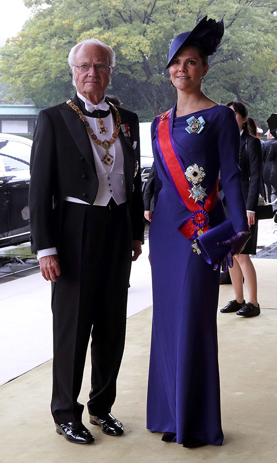 "Sweden's <strong>King Carl XVI Gustaf</a></strong> and <strong><a href=""/tags/0/crown-princess-victoria"">Crown Princess Victoria</a></strong> arrived shortly after them. 