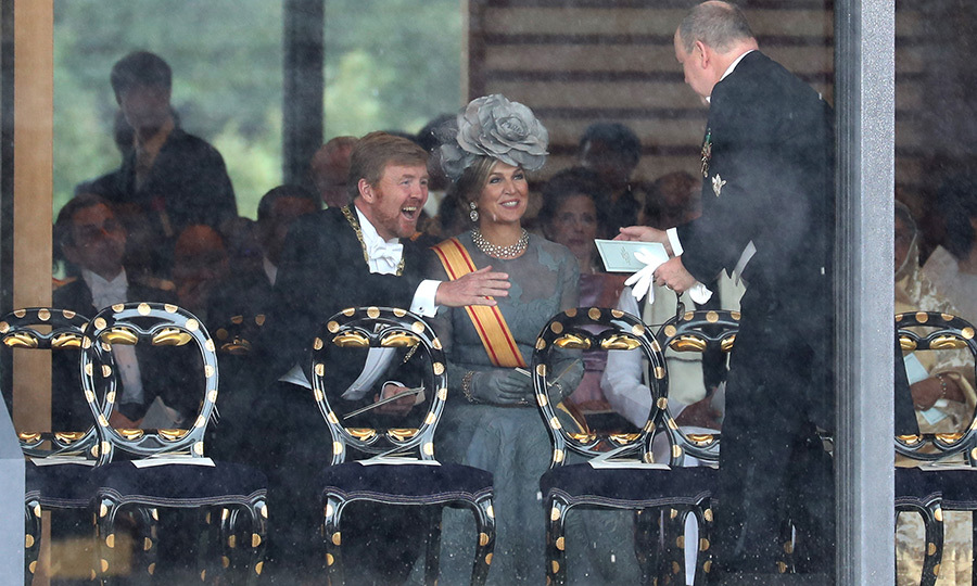 Willem-Alexander, Maxima and Albert were thrilled to see each other!